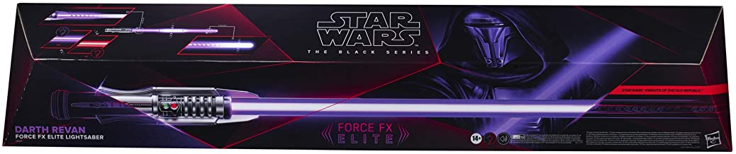 Star Wars The Black Series Darth Revan Force FX Elite Lightsaber with Advanced LED and Sound Effects, Adult Collectible Ro...