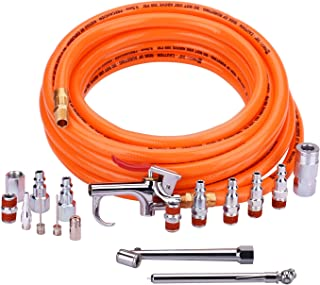 "WYNNsky 3/8"" X 25ft PVC Air Compressor Hose Kit With 17 Piece Air Tool and Air.."