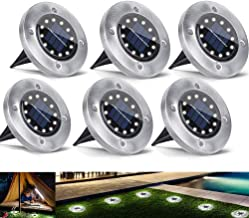 Solar Outdoor Light Ground Light 12 LED Floor Lights Disk Lights Landscape Lighting Waterproof Super Bright for Garden Law...