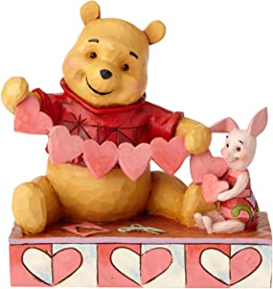 Enesco Disney Traditions by Jim Shore Pooh and Piglet Handmade Valentines Figurine, 5.5