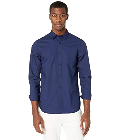 Scotch & Soda Regular Fit Shirt with Tonal Chest Print (Night) Men