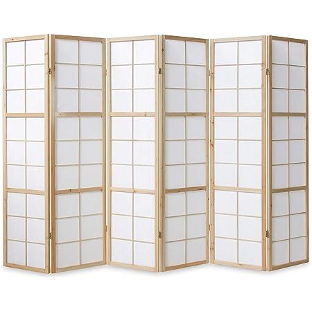 3 fach Paravent Raumteiler Trennwand Japan Shoji natur Reispapier Homestyle4u