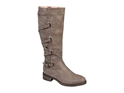 Journee Collection Carly Boot Extra Wide Calf (Taupe) Women