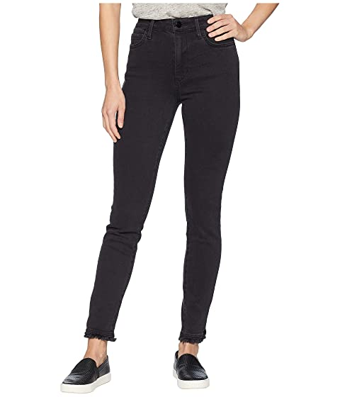 The Stiletto High Waist Lace Hem Ankle Skinny Jeans in Charlie
