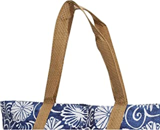 FLOSO Womens/Ladies Woven Floral Print Summer Handbag (UK Size: One Size) (Blue)