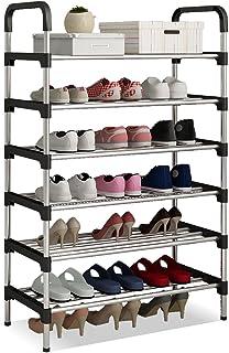 UDEAR Zapatero Armario Organizador para Zapatos de Tela Negro 56 * 30 * 110 CM