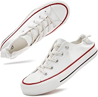 Women's Canvas Sneakers Slip on Shoes Low Top Casual Tennis Shoes
