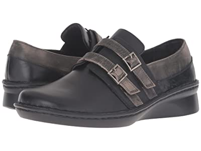 Naot Celesta (Black Madras Leather/Oily Coal Nubuck/Vintage Gray Leather) Women