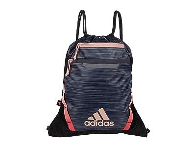 adidas Rumble III Sackpack (Onix Looper/Black/Haze Coral/Signal Pink) Bags