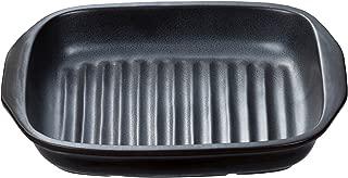 イシガキ産業 グリルプレート 角型 耐熱陶器 幅26.5×奥行18.5×高さ3.5cm 魚焼きグリル 電子レンジ 使用可能 グリル名人 3749
