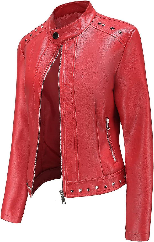 GANTIAN Women's Faux Leather Moto Women Bomber Jacket Biker New Bombing new work product type Jack