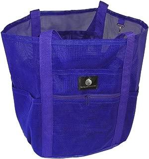Saltwater Canvas Family Mesh Whale Bag, Sand/Waterproof base, 9 pockets, Purple