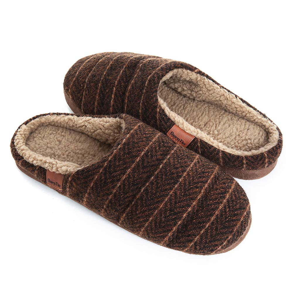 Image of Stylish Striped Men's House Slippers - More Colors Available