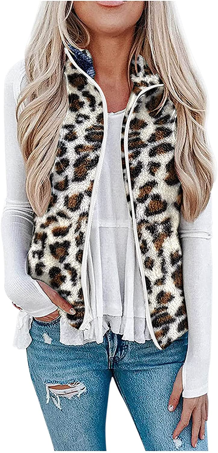 Womens Manufacturer direct delivery Fuzzy Plush Jacket Lightweight Cardi Ranking TOP19 Cozy Sleeveless Vest