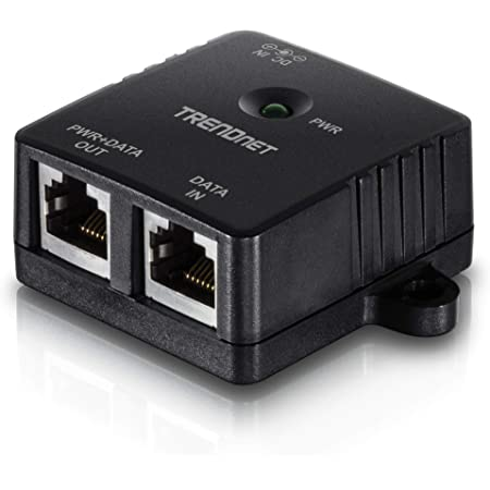 TRENDnet Gigabit Power Over Ethernet Injector, Full Duplex Gigabit Speeds, 1 x Gigabit Ethernet Port, 1 x PoE Gigabit Ethernet Port, Network Devices Up To 100M (328 ft), 15.4W, Black, TPE-113GI