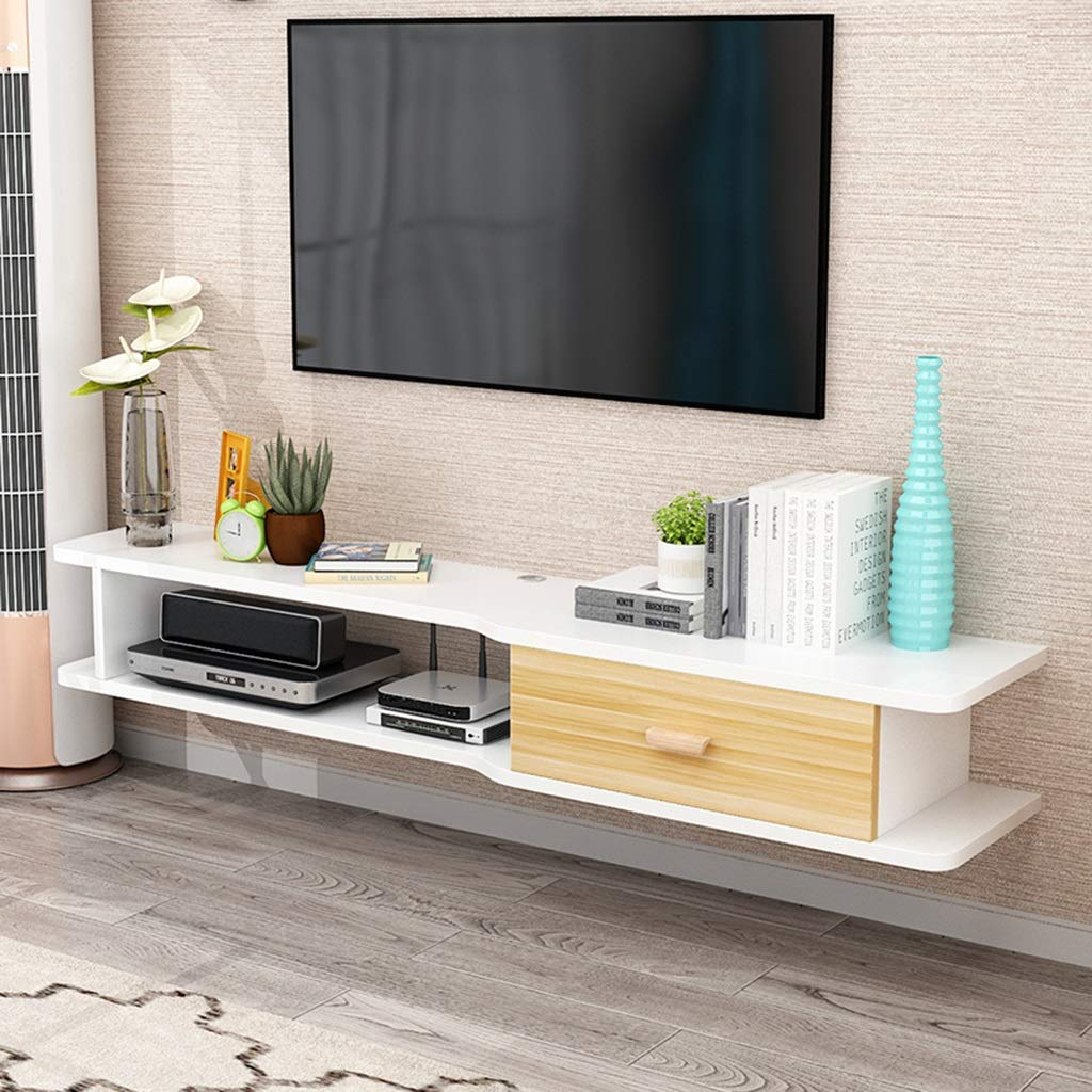 Gabinete de TV flotante Soporte de TV for colgar en la pared Soporte de TV for montaje en pared Gabinete de entretenimiento Entretenimiento Media Center Consola de almacenamiento Consola de juegos Con: