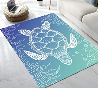 Area Rug Sea Turtle Area Rug for Living Room Bedroom Playing Room 5'x7'