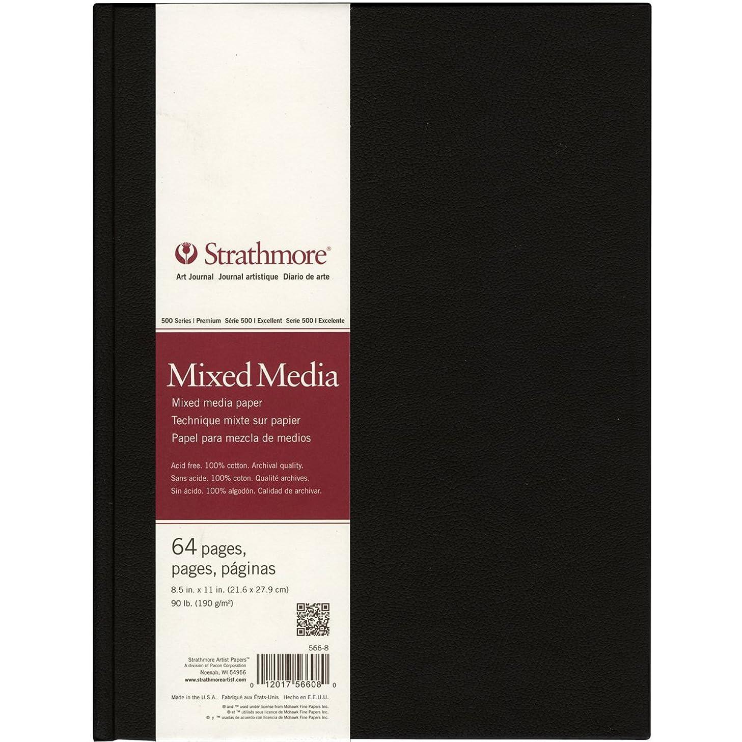 Strathmore 566-8 500 Series Hardbound Mixed Media Art Journal, 8.5