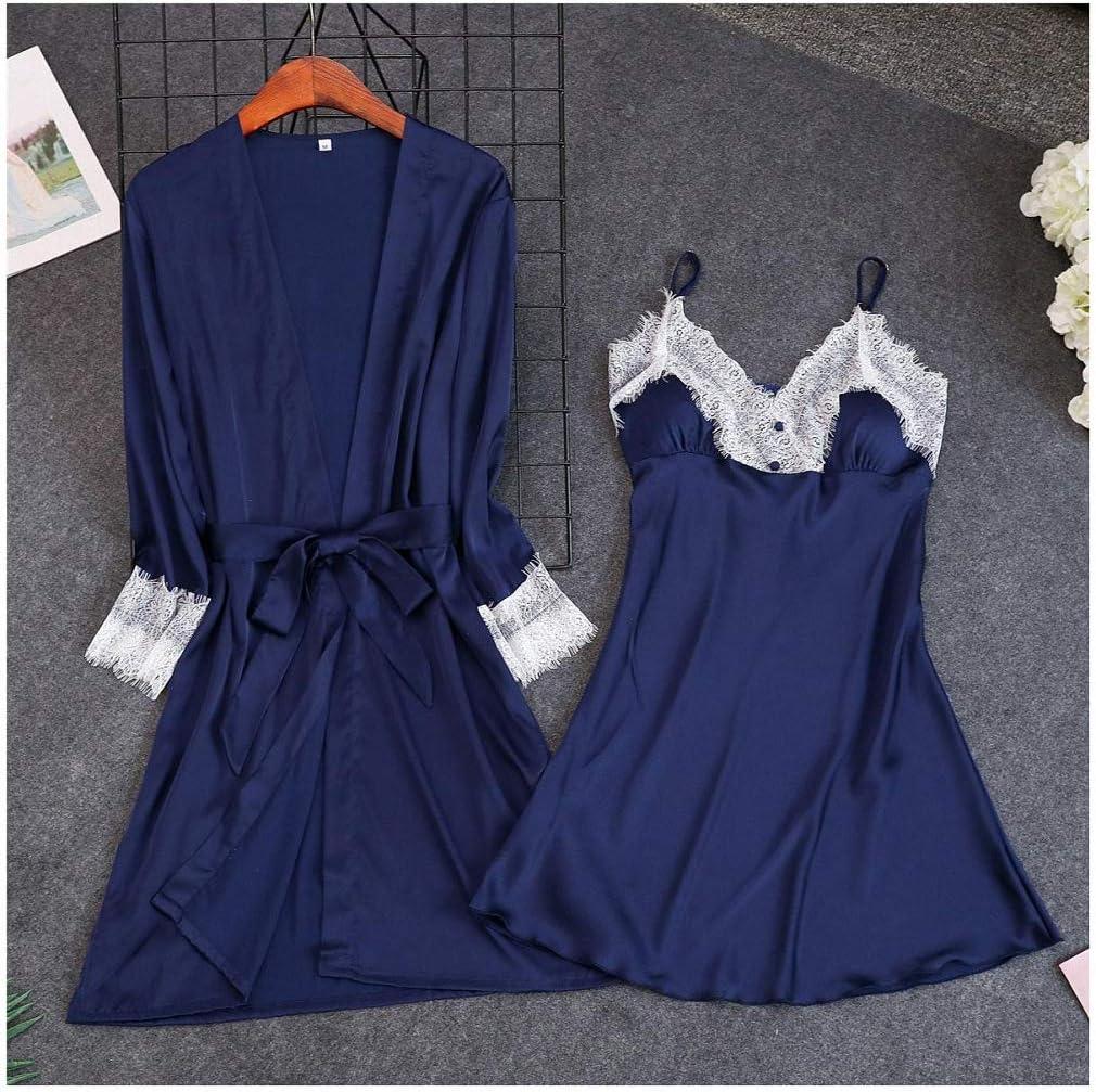 Sexy Pink Spring 2 pcs Robe Sets Max 45% OFF Strap Kimono Max 40% OFF Sleepwear Cas Suit
