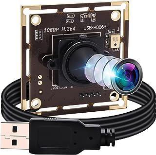 ELP Cámara 1080P Webcam H.264 Low Light USB, módulo de cámara mini (objetivo de 3,7 mm, módulo USB de cámara)