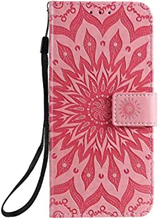 Hllycr A31 2020 Leather Flip Case Flip Kickstand Case with Card Slots Protective Cover for Oppo A31 2020 - Pink