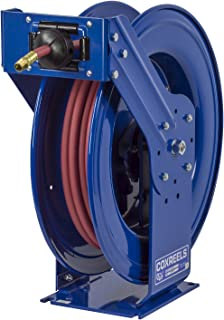 Coxreels Truck Series Maximum-Duty Air Hose Reel, Max. 300 PSI, Model# TSH-N-475,Blue 1/2