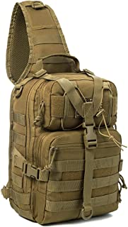 J.CARP Tactical EDC Sling Bag Pack, Military Rover Shoulder Molle Backpack, with USA Flag Patch