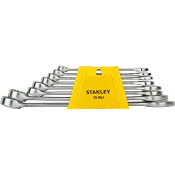 STANLEY 70-963E Chrome Vanadium Steel Combination Spanner Set with Maxi-Drive system (8-Pieces)