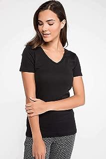 DeFacto Kadın Tişört Uzun Kollu T-shirt, Siyah, 42