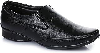 Action Shoes Men's Black Loafers  - 8 UK (42EU) (SR-11-BLACK)