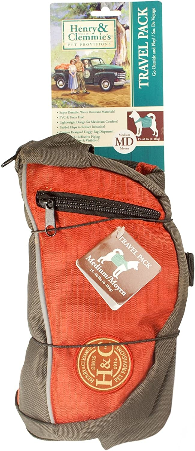 Henry and Clemmies Dog Backpack Medium, Red