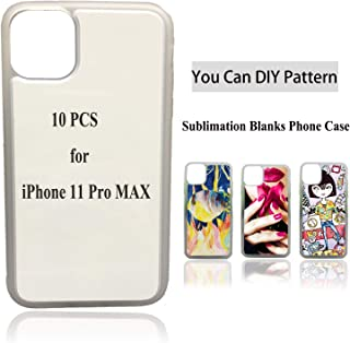 10PCS Sublimation Blanks Phone Case Covers Soft Rubber Anti-Scratch for Apple iPhone 11 Pro Max, 6.5-Inch (2019) Printable Phone Cases for DIY Custom Clear Transparency Edge