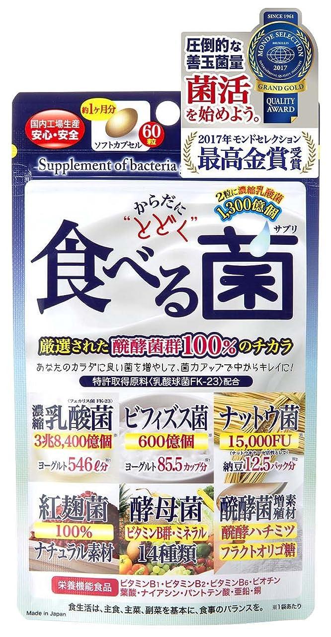 有益カーフ物理的にジャパンギャルズ からだにとどく 食べる菌 460mg×60粒 ×10