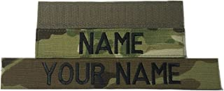 Customized Name Tape, with Fastener or Sew-On, ACU Multicam OCP Black ABU OD Green Desert Tan NavyBlue - Custom - US Army USAF USMC Police CivilAirPatrol Tape, Customized