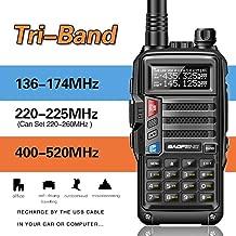 BaoFeng UV-9S Tri-Band 5W VHF,1.25M,UHF 136-174/220-225/400-520Mhz Extra 220 Antenna Portable Amateur Ham Two Way Radio