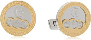 Diamond Moon Stainless Steel Cufflinks for Men, Stainless Steel - 1800541240421