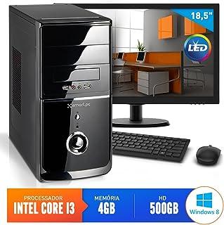 "Computador Smart Pc 80177 Intel Core i3 (4GB HD 500GB) + Monitor 18,5"" Windows 8"