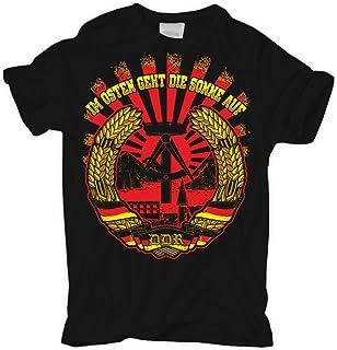 T-Shirt Der Osten rockt Ostdeutschland osten DDR nva technik ost ossi ostdeutsch