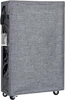 Amazon Brand – Umi Grand Panier de blanchisserie Roulant avec Le Panier Mince de blanchisserie de Roues avec la Grande fen...