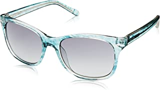 Fossil Women's 3006/s Square Sunglasses, Blue Havana, 55 mm