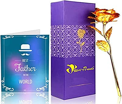 Sky Trends Gorgeous Rose with Gift Box and Greeting Card - Best Gift for Parents on Father/Mother Day, Anniversary, Birthday with Gift Box st-002