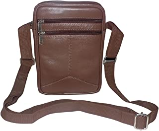 Style98 Men and Women Genuine leather Traveller Neck Pouch and Passport Holder Brown 5025IB