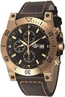 Zeno Watch Basel - Reloj para Hombre Analógico Automático con Brazalete de Cuero 8023TVD-Pgr-i1