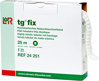 Lohmann & Rauscher tg Fix Net Tubular Bandage, Elastic Net Wound Dressing, Bandage Retainer for Small Extremities, Size B (40.0 cm When Stretched x 2.5 m)
