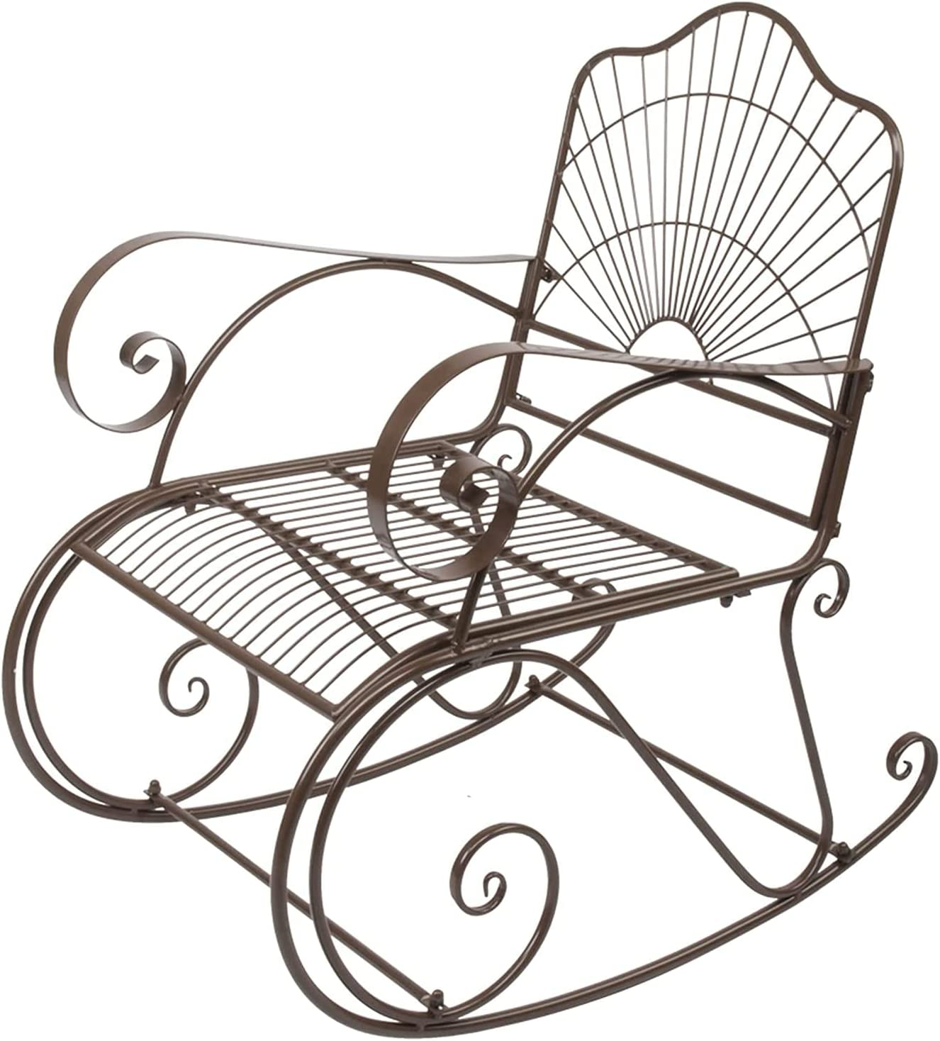 Cash special price HDHUIXS Max 77% OFF Compactly Iron Wire Single Chair Unim Dark Rocking Brown