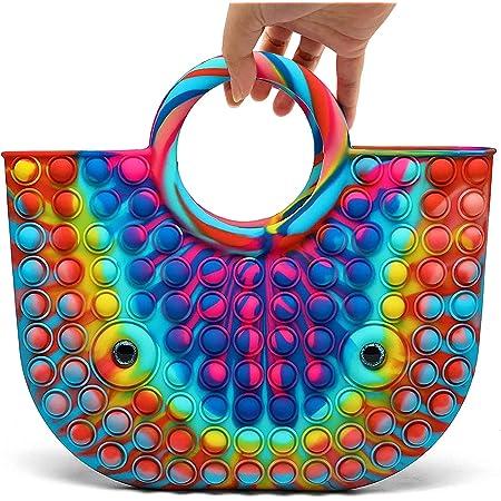 cykapu Bubbles Fidget Toys XXL,Simple Sensory Pop it geant Bag Sac à Main Push Bubble Élégante Sacs à Main pour Femmes Pop Sensory Squeeze Bags pour Le Soulagement du Stress Et de Lanxiété