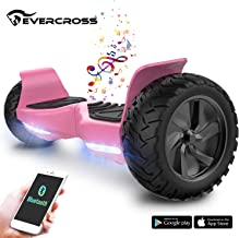 "EverCross 8.5"" Scooter Patinete del Mano Eléctrico Bluetooth App Self Balancing (Pink)"