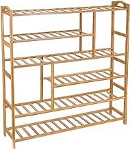 Ollieroo Bamboo Shoe Rack 6-Tier Entryway Shoe Shelf Storage Organizer Free Standing Shelves