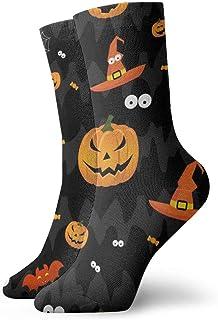 Hunter qiang, Calcetines para mujeres y hombres, sin costuras, patrones para niñas, niños, Halloween, 30 cm