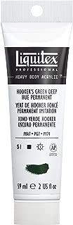 Liquitex Professional Heavy Body Acrylic Paint, 2-oz Tube, Hooker's Green Deep Hue Permanent